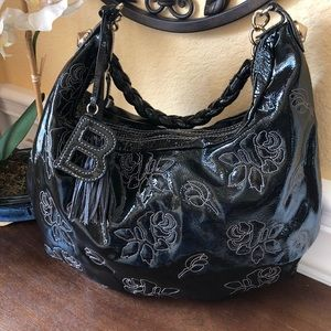 Like New! Betsey Johnson Patent Leather Hobo Bag